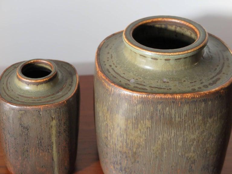Mid-Century Modern 1960s Valdemar Petersen Scandinavian Stoneware Vases for Bing & Grondahl For Sale