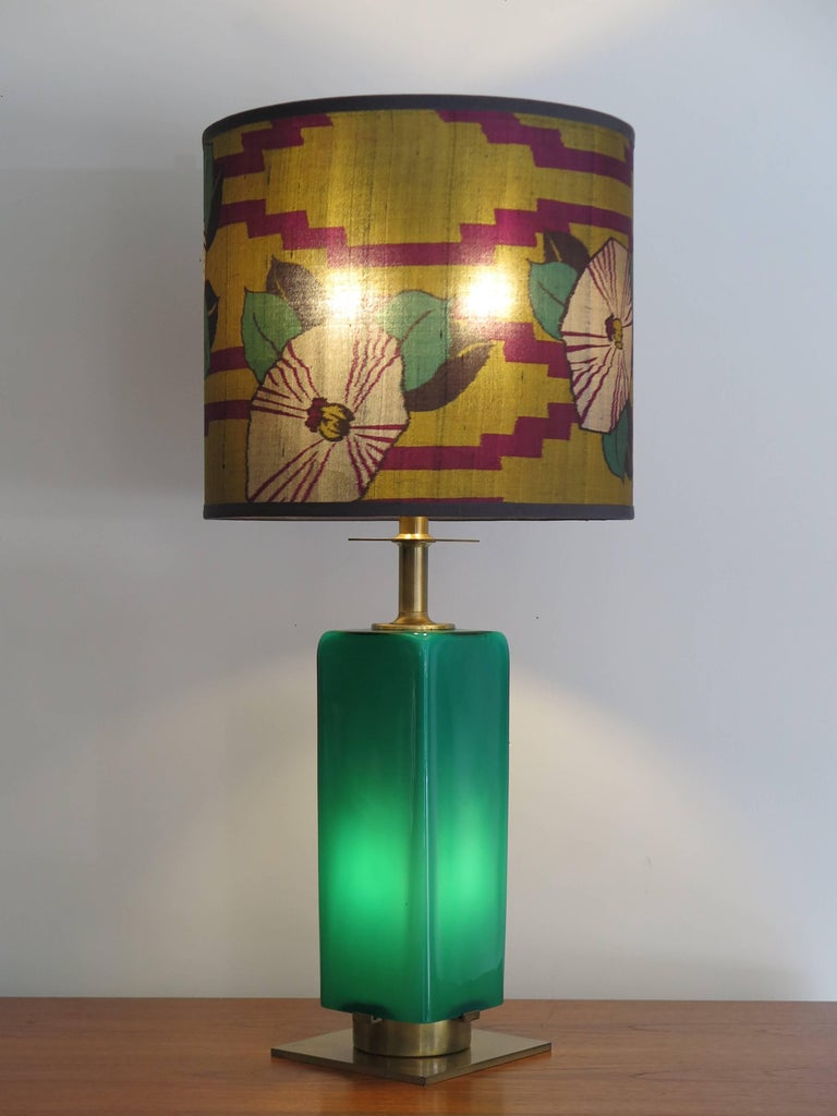 Mid Century Modern 1950s Stilnovo Midcentury Italian Gl And Br Table Lamp Shade For