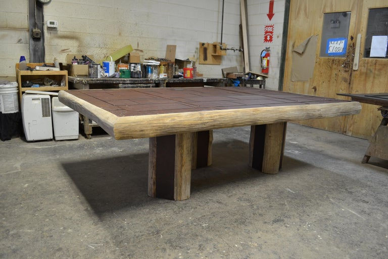 Rustic Mike Bell Reclaimed Fire Door Table For Sale