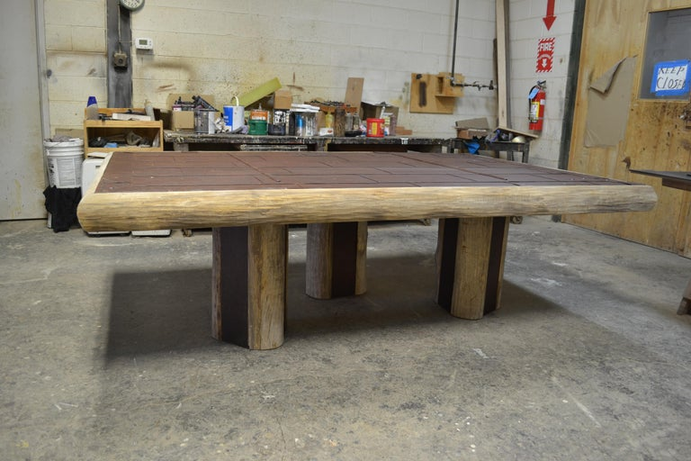 American Mike Bell Reclaimed Fire Door Table For Sale