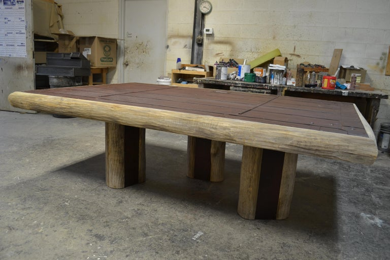 Mike Bell Reclaimed Fire Door Table In Excellent Condition For Sale In Chicago, IL