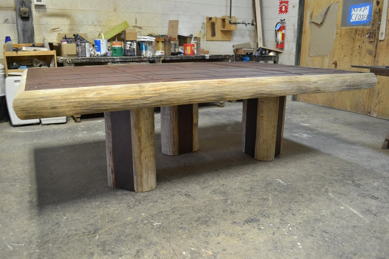 Contemporary Mike Bell Reclaimed Fire Door Table For Sale