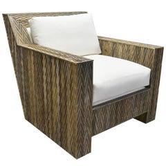 Reclaimed Wood Chevron Lounge Chair