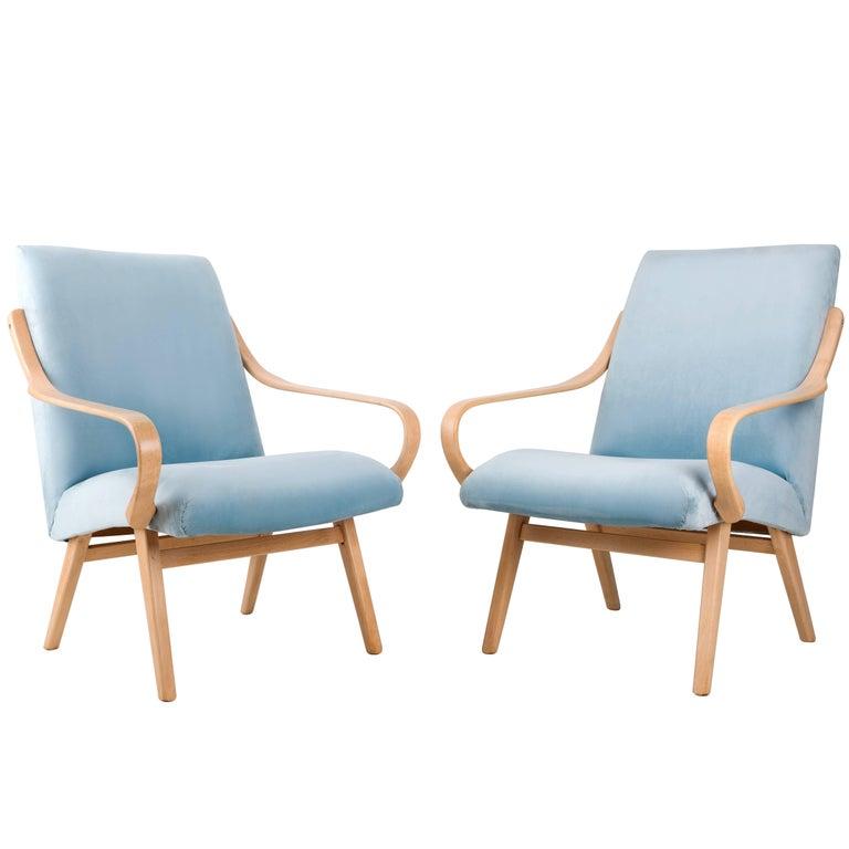Armchairs Designed by Jaroslav Šmidek for Ton, Czech Republic, 1960s For Sale