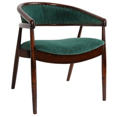 Unique Vintage Dark Green B-3300 Armchair, Poland, 1960s