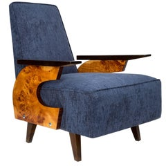 20th Century Navy Blue Armchair, 1960s