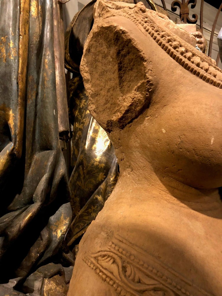 Late 12th Early 13th Century Rajasthani Sandstone Torso of Surasundari In Good Condition For Sale In Armadale, Victoria