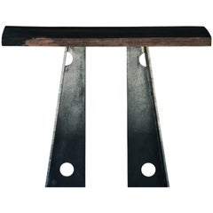 Contemporary Blackened Steel and Walnut Console Table by Scott Gordon, in Stock
