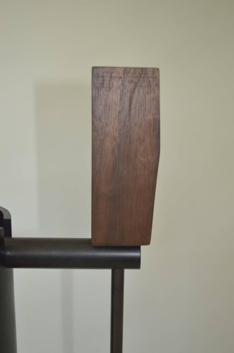 Contemporary Minimalist Blackened Steel Fire Tools Set by Scott Gordon For Sale 2
