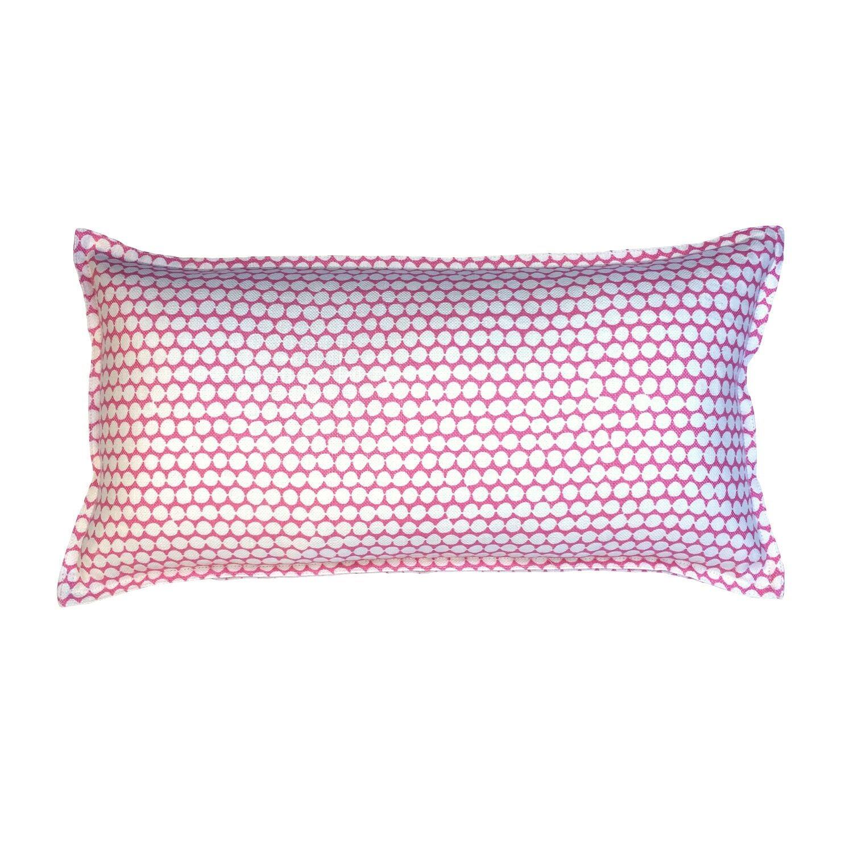 Rose Checker on Oyster Cotton Linen Pillow