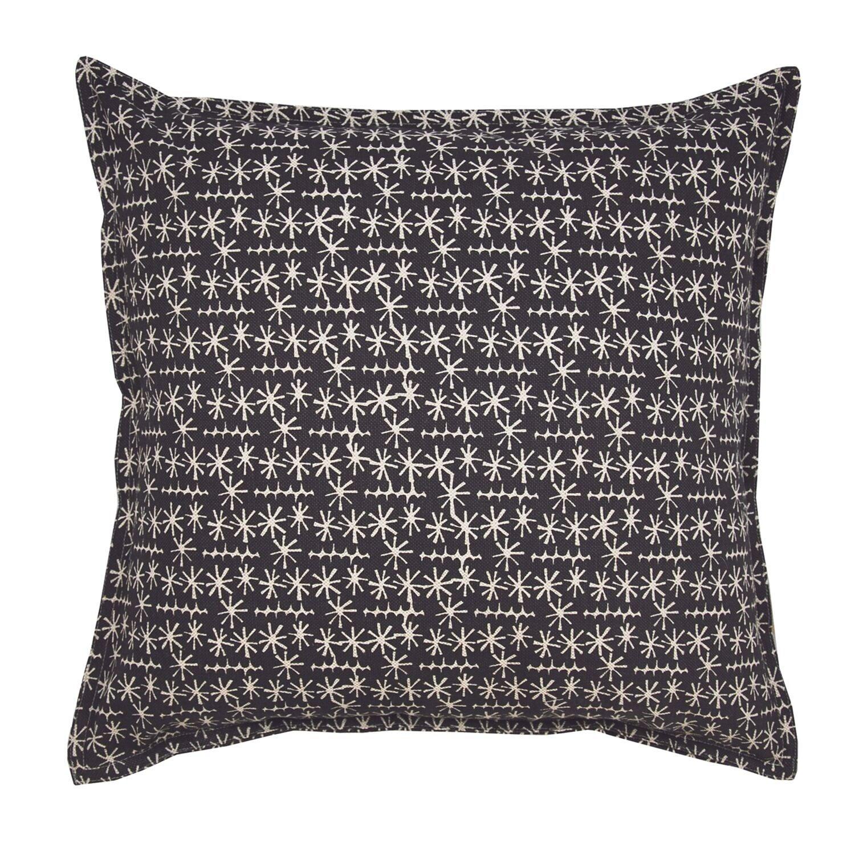 Slate Star Ticket on Wheat Cotton Linen Pillow