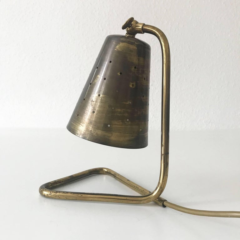 Elegant Brass Table Lamp by Hans Bergström Attributed, Sweden, 1950s For Sale 1