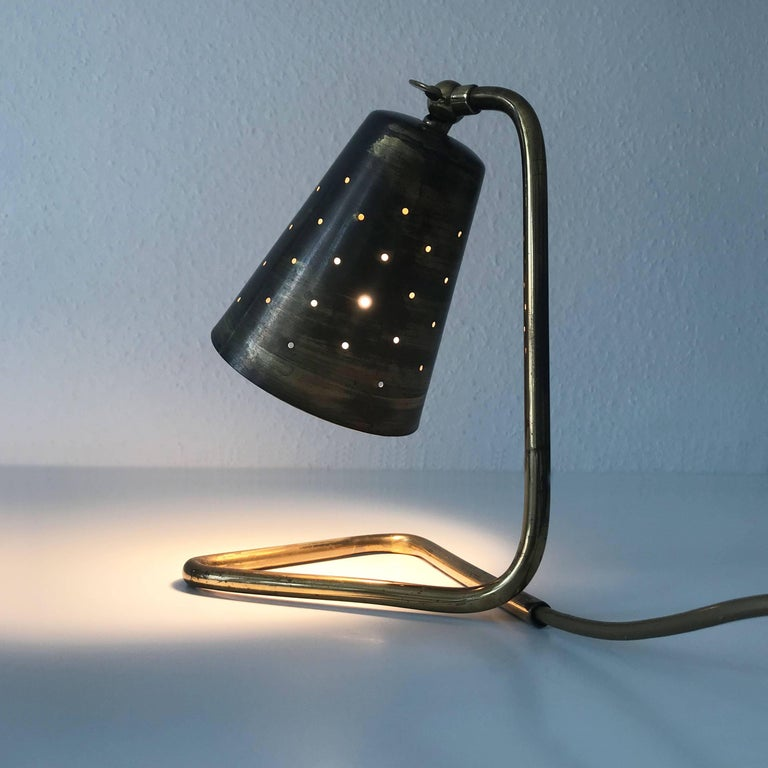 Elegant Brass Table Lamp by Hans Bergström Attributed, Sweden, 1950s For Sale 3