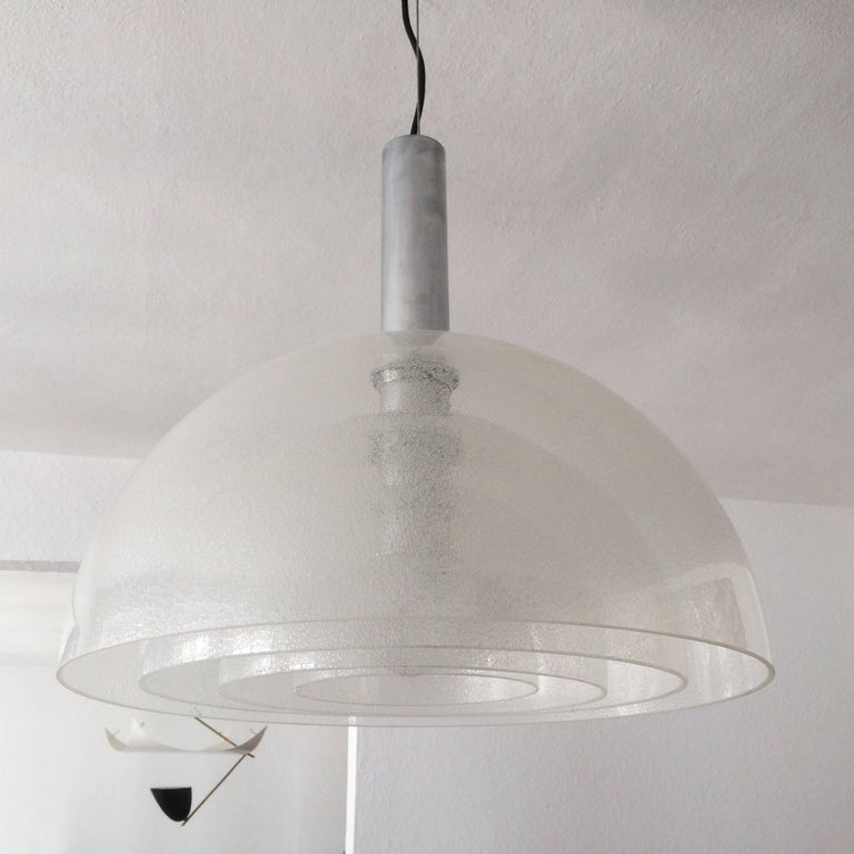 Large Four-Layer Murano Glass Pendant Lamp by Carlo Nason for Mazzega, 1960s For Sale 1