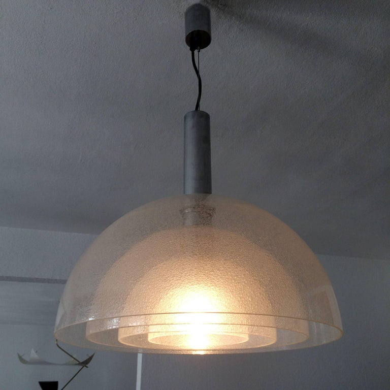 Large Four-Layer Murano Glass Pendant Lamp by Carlo Nason for Mazzega, 1960s For Sale 3