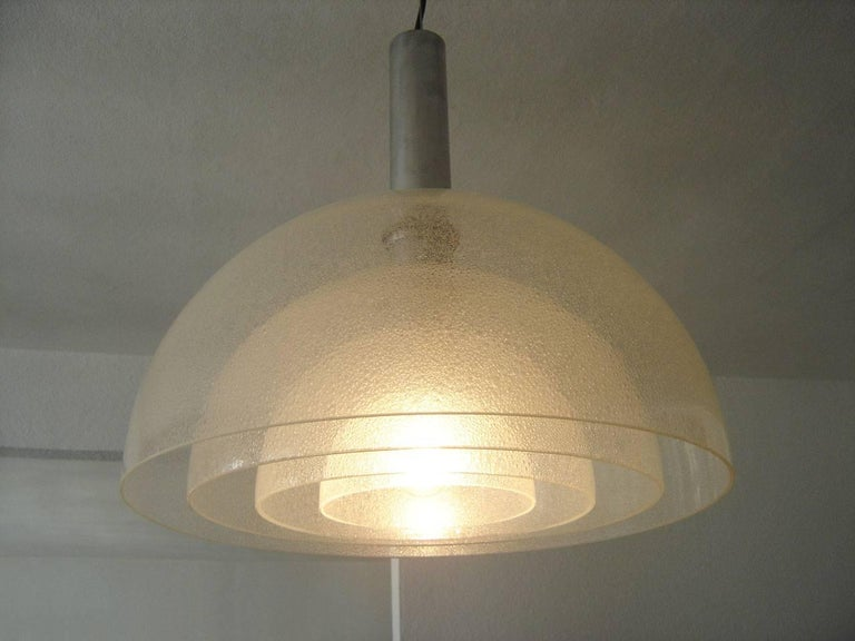 Large Four-Layer Murano Glass Pendant Lamp by Carlo Nason for Mazzega, 1960s For Sale 2