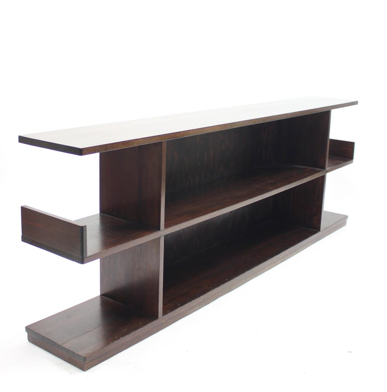 Mid-20th Century Low Swedish Bookshelf, Attributed to Axel Einar Hjorth, 1930s For Sale