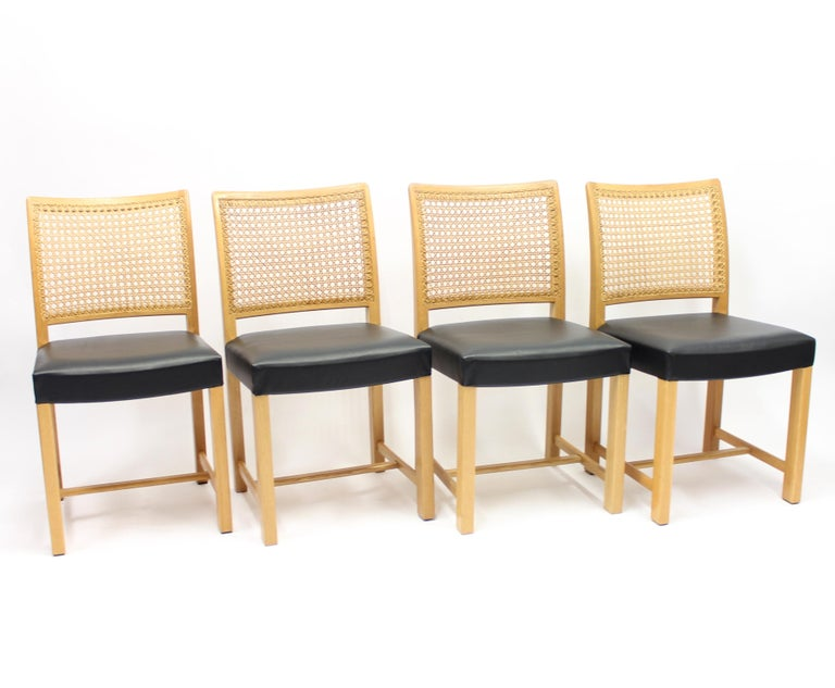 Dining Chairs by Carl Gustaf Hiort Af Ornäs for Mikko Nupponen, 1950s, Set of 4 In Good Condition For Sale In Uppsala, SE