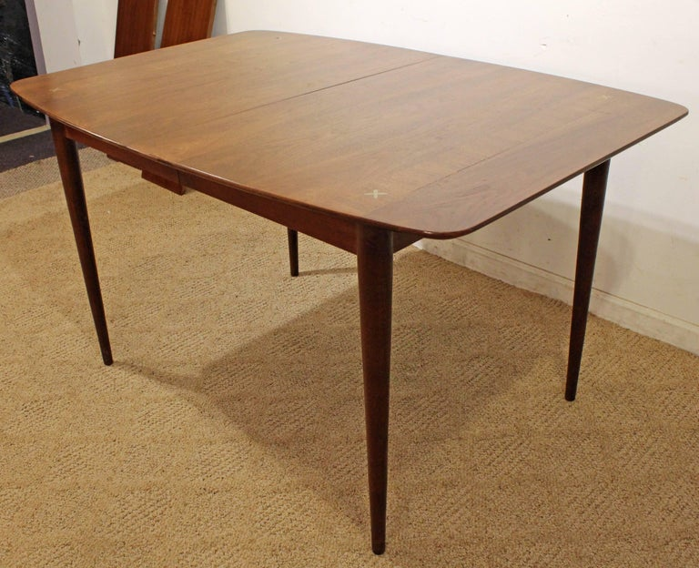 Surfboard Furniture With Midcentury Modern American Of Martinsville Walnut Surfboard Dining Table In Excellent Condition For Sale