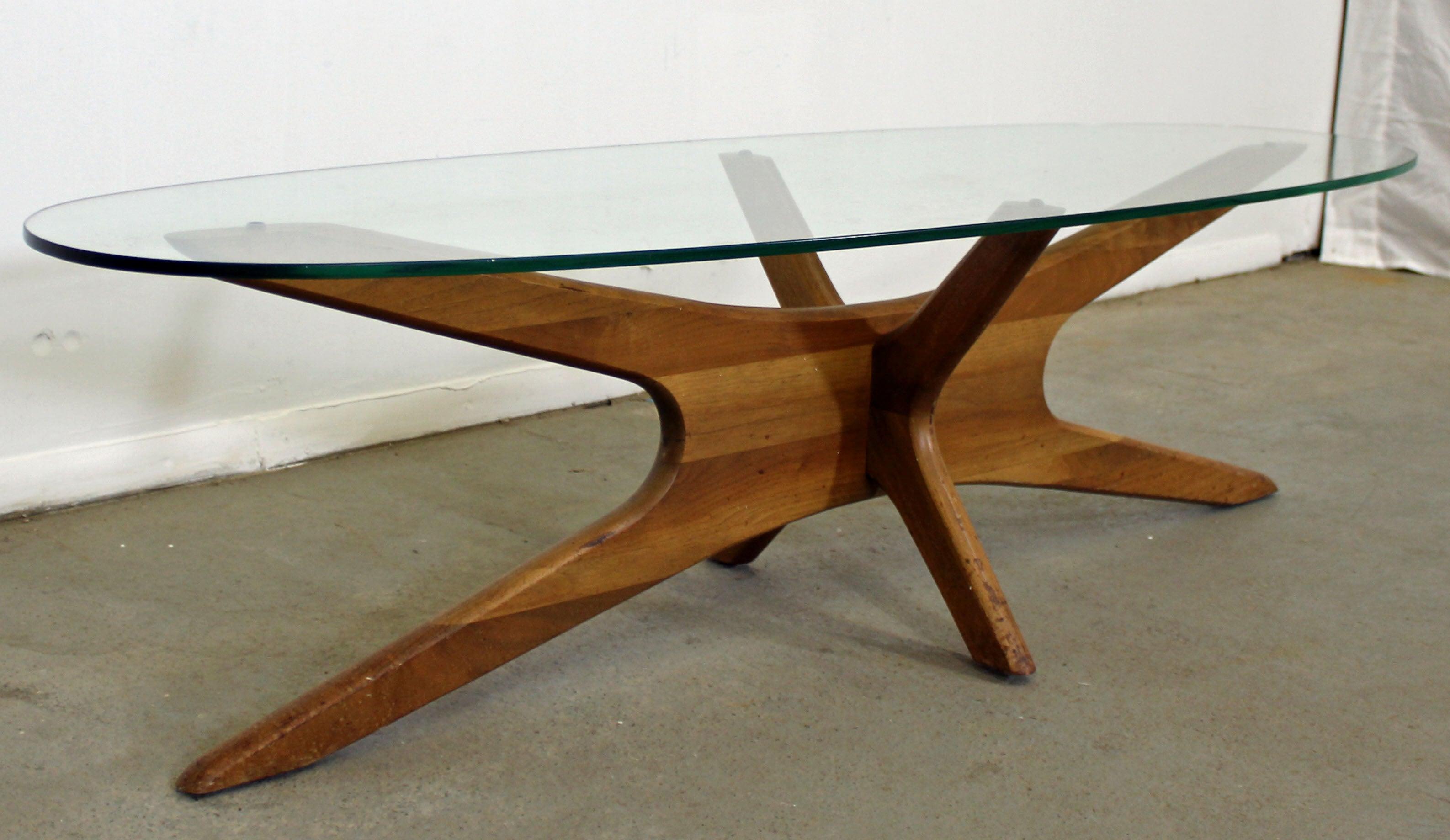 Mid Century Modern Adrian Pearsall Jacks Glass Top Coffee Table At 1stdibs