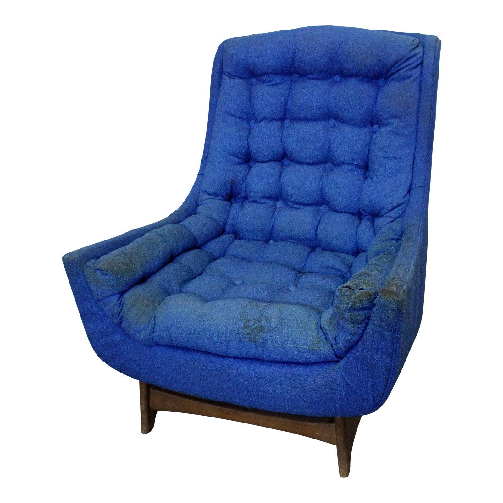 Midcentury Danish Modern Kroehler Walnut Lounge Chair