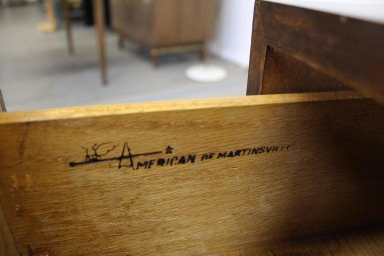 Pair of Mid-Century Danish Modern American of Martinsville Walnut Nightstands For Sale 6