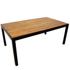 Mid-Century Modern Milo Baughman Directional Rosewood Parquet Dining Table