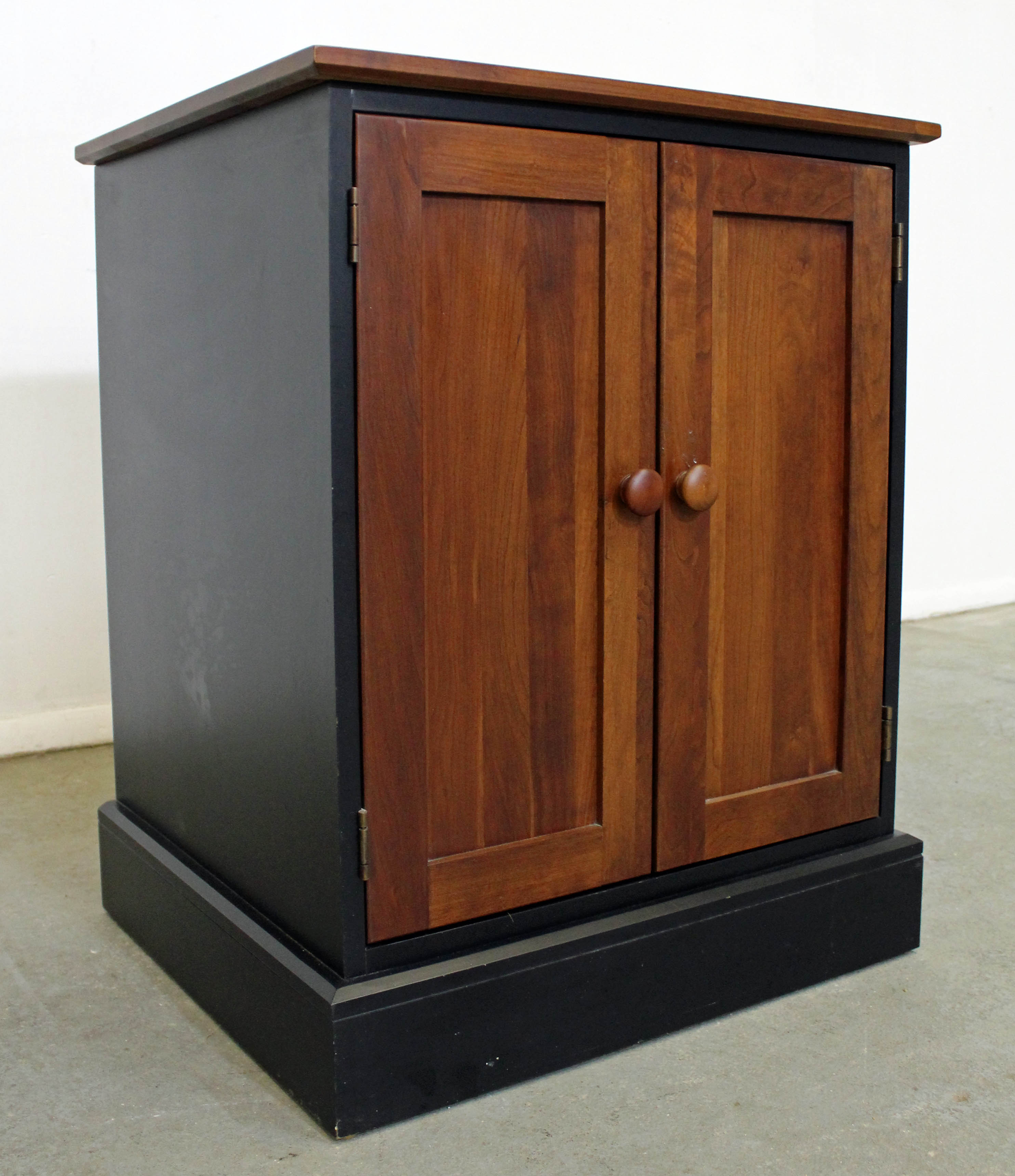 Ethan Allen Impressions Cherry Ebonized Nightstand Cabinet For At 1stdibs