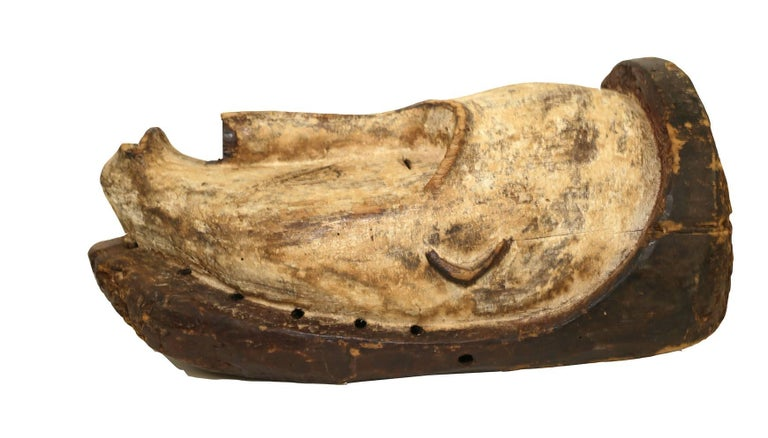 Mid-20th Century Ritual Fang Mask from Gabon, circa 1950s For Sale