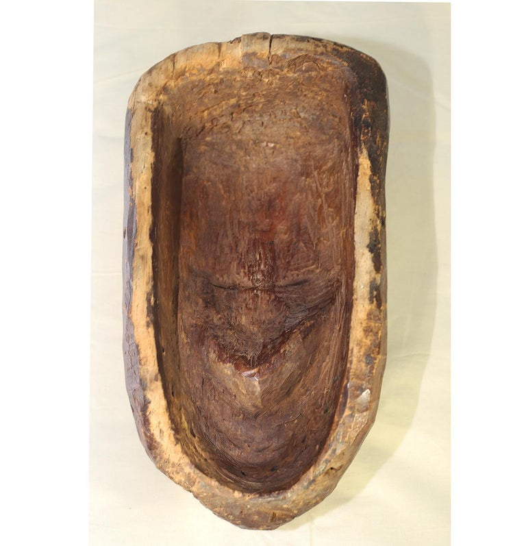 Wood Ritual Fang Mask from Gabon, circa 1950s For Sale