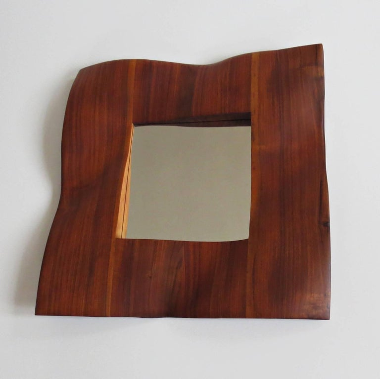 Solid wood mirror by German designer and sculptor Eckehard Weimann.