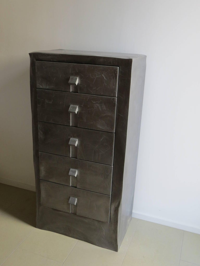 Dresser Made of Aluminium Handcrafted, One of a Kind In New Condition For Sale In Dietmannsried, Bavaria