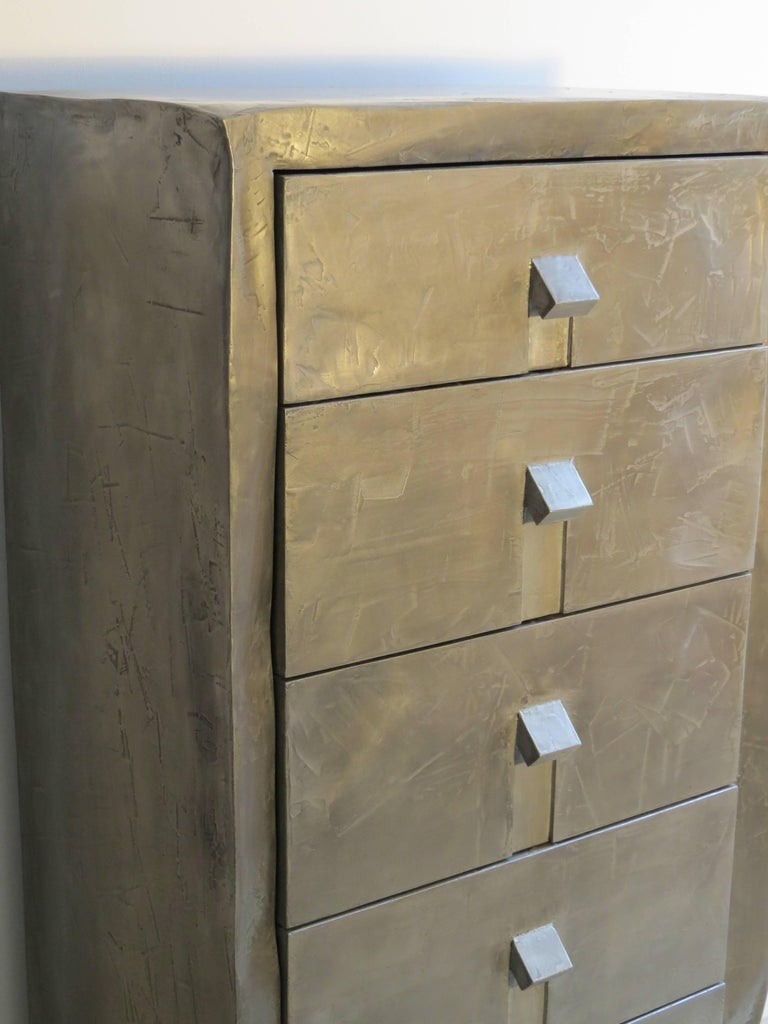 Contemporary Dresser Made of Aluminium Handcrafted, One of a Kind For Sale
