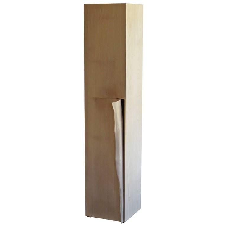 Tower Cabinet, Handmade, Solid Wood, Made in Germany, High Cabinet For Sale