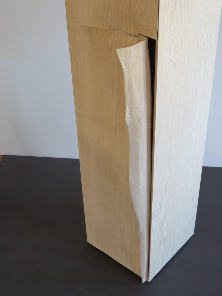 Hand-Crafted Tower Cabinet, Handmade, Solid Wood, Made in Germany, High Cabinet For Sale