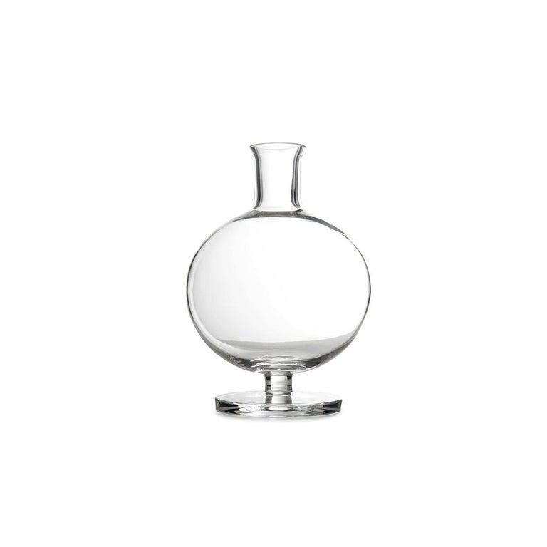 Modern Tulip Glass Decanter by Aldo Cibic For Sale