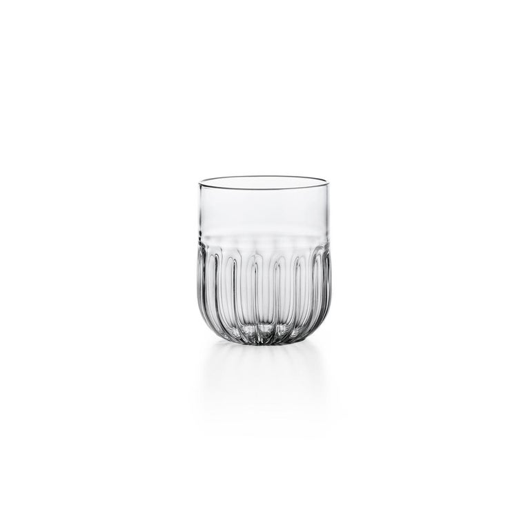 Routine Set of Four Wine Glass in Mouth Blown Glass Designed by Matteo Cibic In New Condition For Sale In Milan, IT