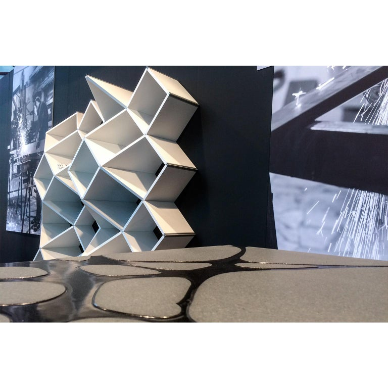 Modern Bookcase in Pvc Foam and Extruded Aluminum, X.me 4x4 #02 For Sale 2