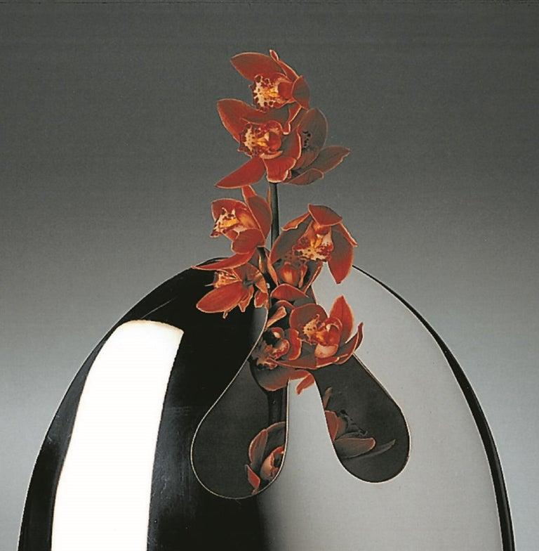 Italian Handmade Modern Silver Plated Vase