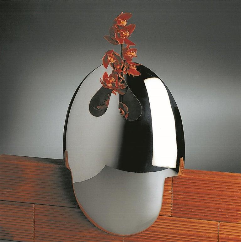 Contemporary Handmade Modern Silver Plated Vase