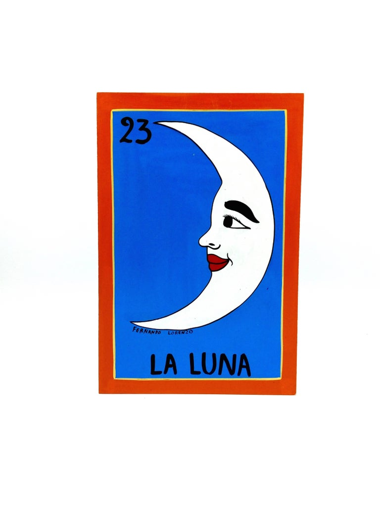 Familia Lorenzo, Hand-Painted Wood, Mexican Loteria For Sale 5