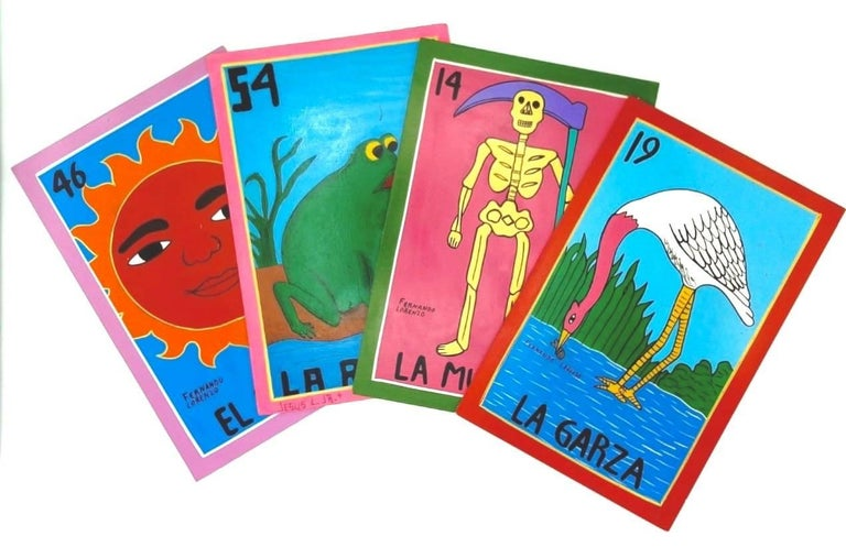 Familia Lorenzo, Hand-Painted Wood, Mexican Loteria For Sale 7