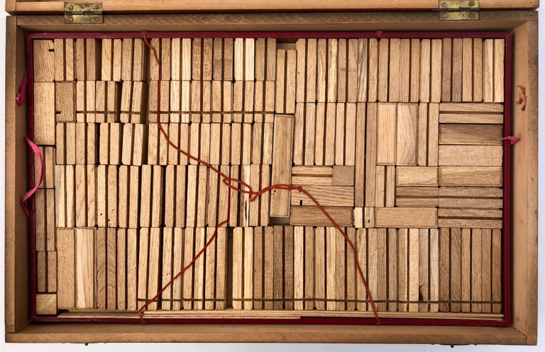 Napoleon III French Early 1900s Wooden Construction Game, Beautiful Architectural Details For Sale