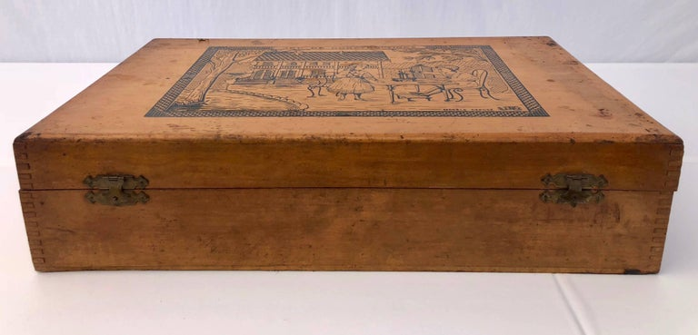 French Early 1900s Wooden Construction Game, Beautiful Architectural Details For Sale 5