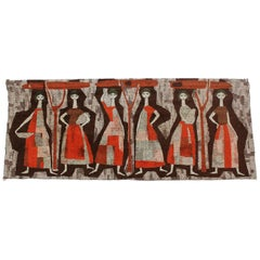 Mid-Century Modern Cubist Tapestry Hungary, 1960s