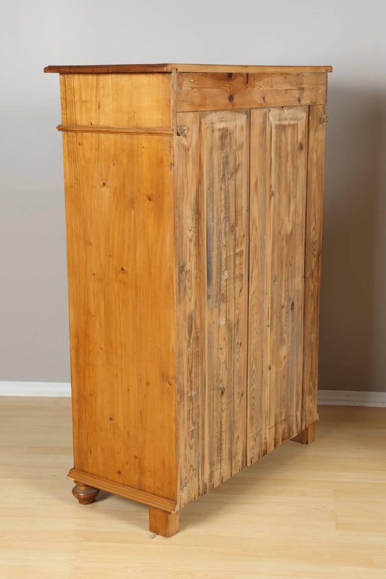 Tall Pine Cabinet, circa 1880 For Sale 2