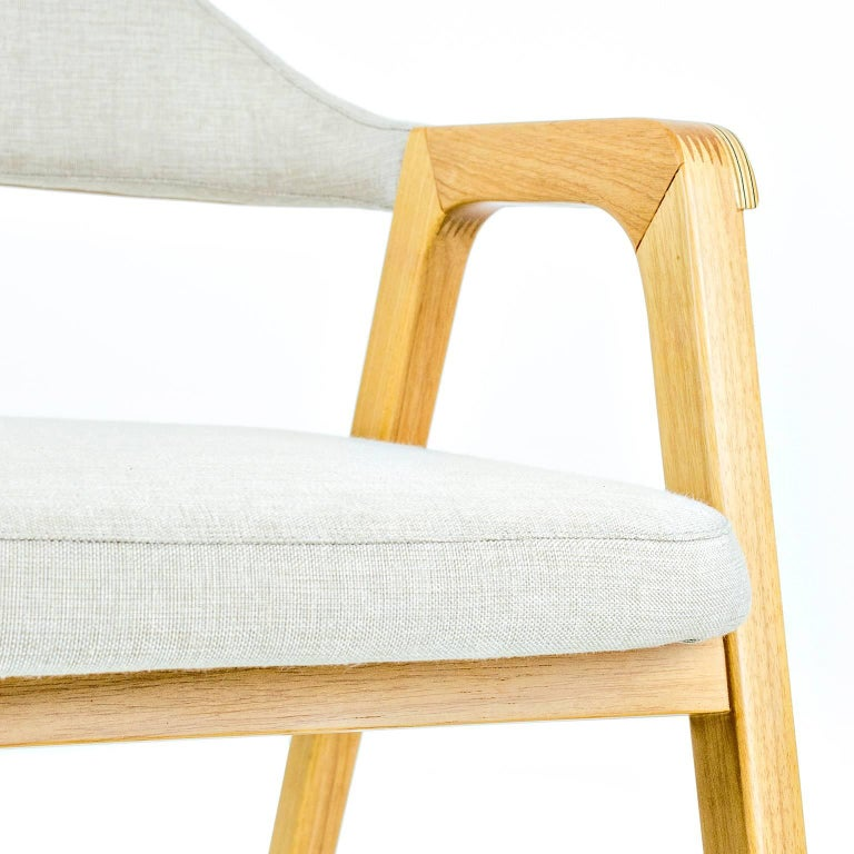 Contemporary Solid wood, plywood minimalist design chair, modern style combining textiles For Sale