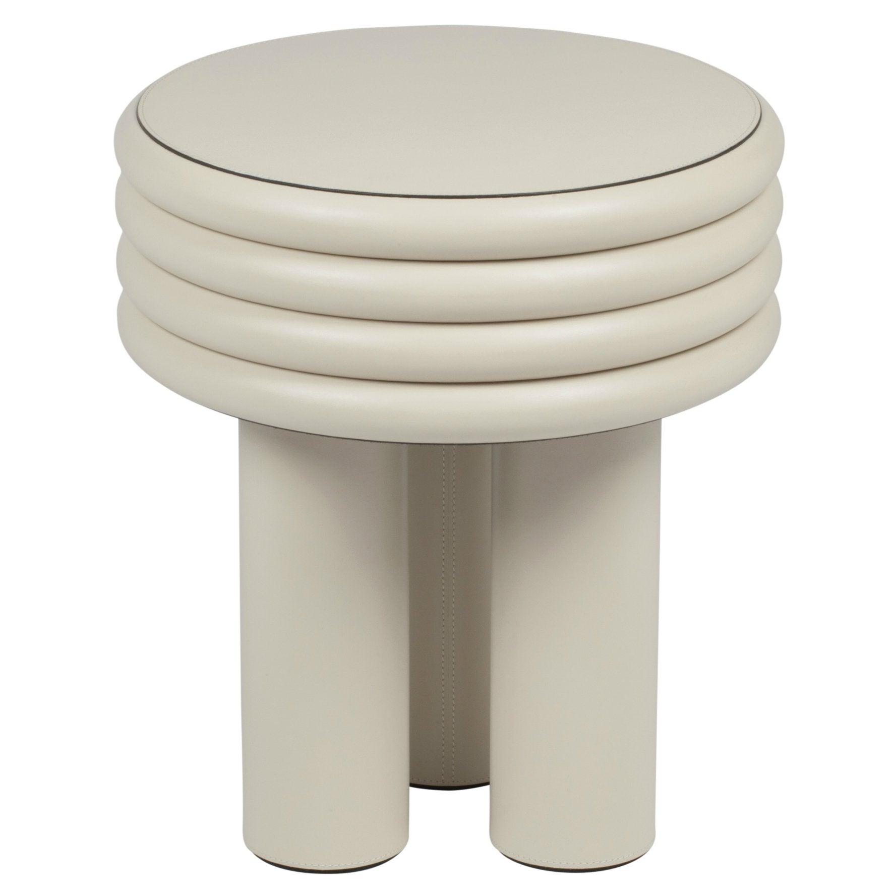 Miraculous Scala Leather Coffee Table Small High Ivory Nappa Inzonedesignstudio Interior Chair Design Inzonedesignstudiocom