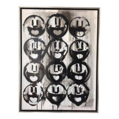 Madison Faile 12 Faces Contemporary Artwork Acrylic on Canvas