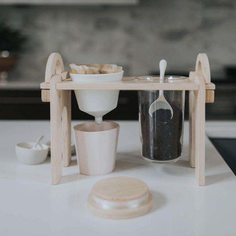 Savant Pour over Set, Matte White Coffee Set, Modern Contemporary Porcelain For Sale 3